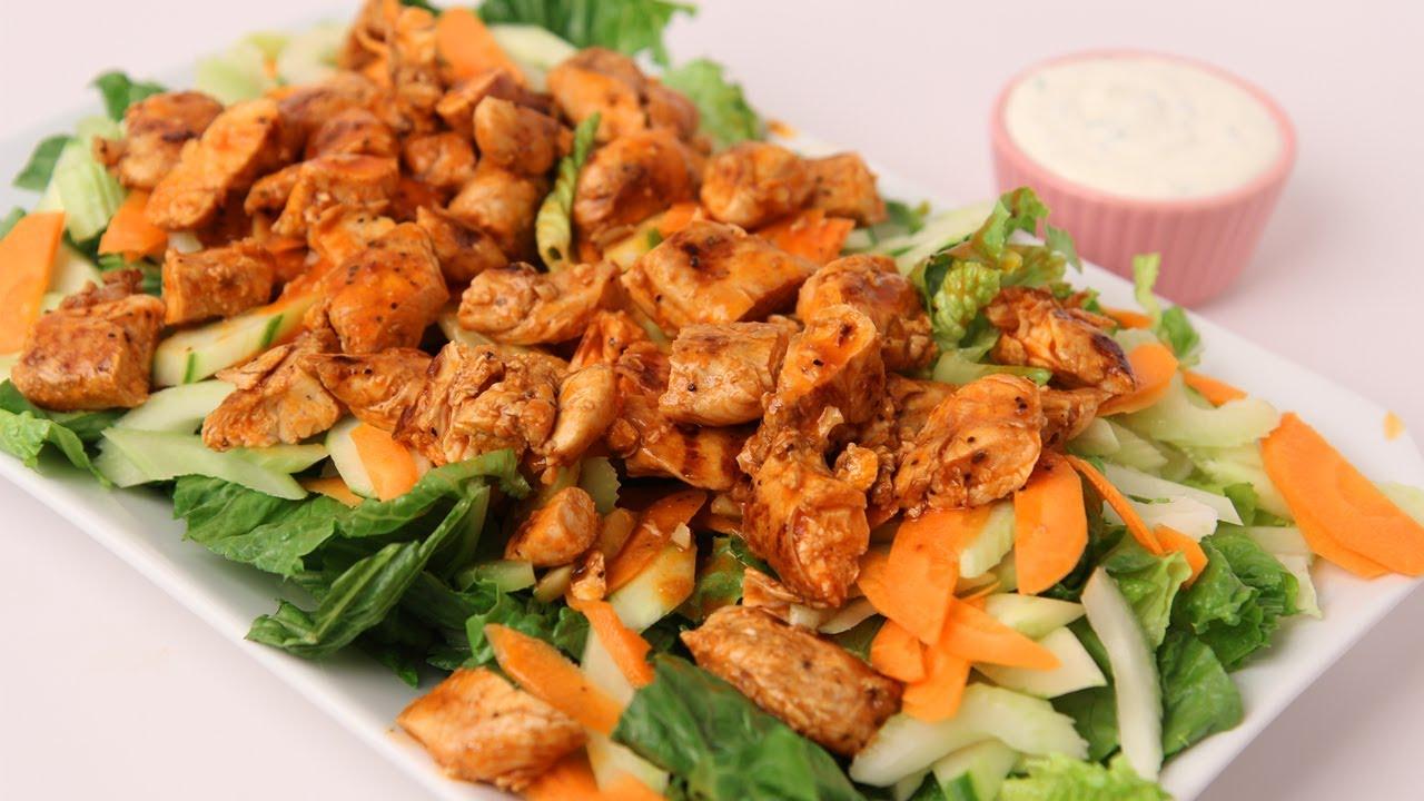 Grilled Buffalo Chicken Caesar Salad